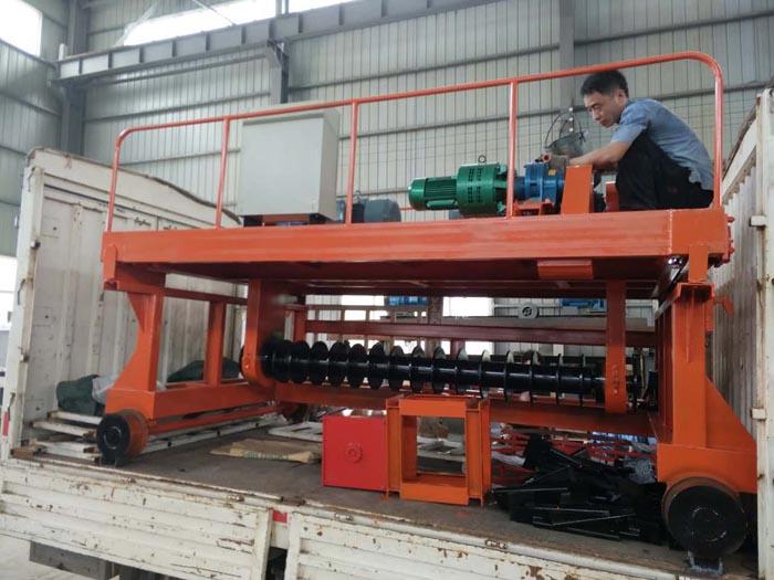 3米整槽式翻抛机发往浙江客户